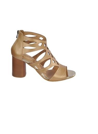 Maje 9837 Pudra Kadın Topuklu Ayakkabı Altın
